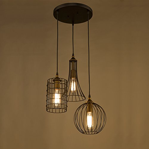 lights island chandelier wire cage pendant light kitchen lighting
