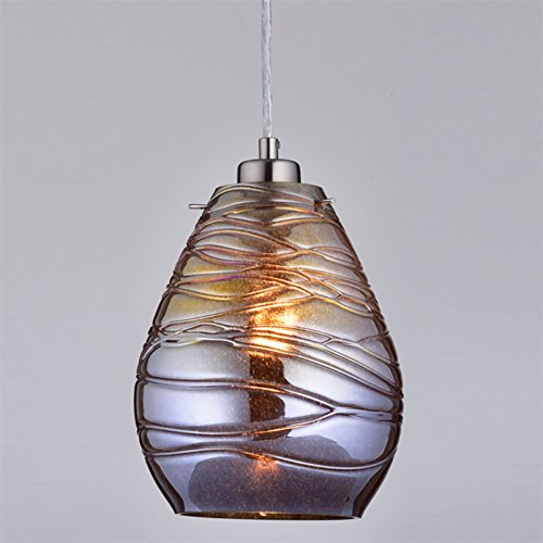 ClaxyR Ecopower Kitchen Antique Mercury Glass Pendant