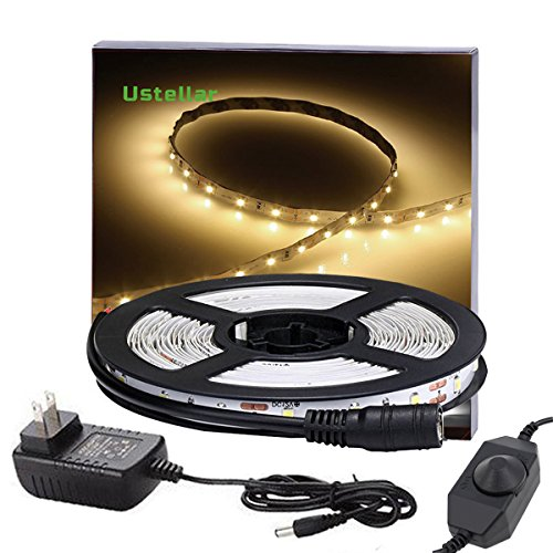 ustellar dimmable led light strip kit with ul listed power supply 300 units smd 2835 leds 16. Black Bedroom Furniture Sets. Home Design Ideas