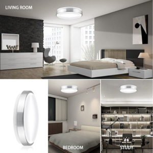 LEDGLE 13W LED Ceiling Lamp Round Ceiling Lights, Equal to 110W Incandescent Bulb, Daylight White 6000K, 960 Lumen, Suitable for Bathroom, Kitchen, Hallway