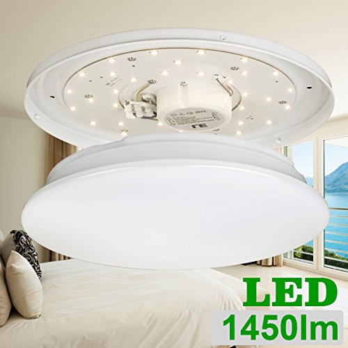 40w Led Ceiling Light Fixture Lamp Flush Mount Room: LE® 18W 14-Inch 3000K LED Ceiling Lights, 120W