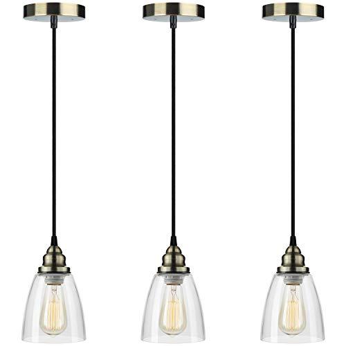 Pendant Light 3-Pack, Farmhouse Edison Hanging Lights