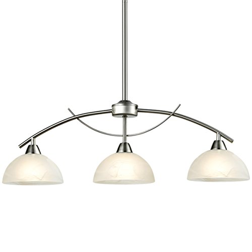 3 Light Led Ceiling Pendant Brushed Nickel Contemporary: Dazhuan Modern Frosted Glass Shades Pendant Light Arched