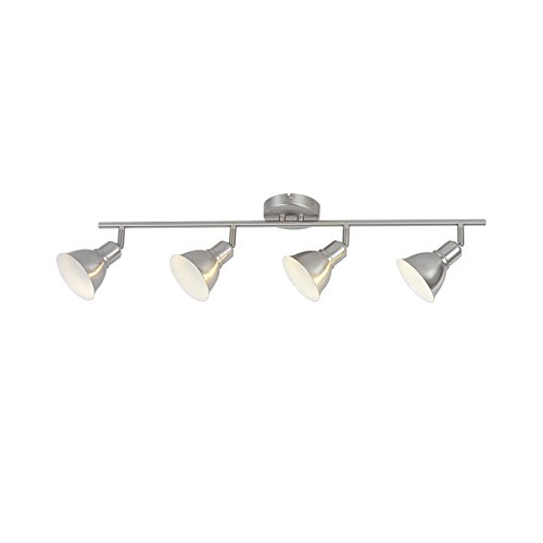 GU10 Bulbs 4 Light Track Lightings Flush Mount Wall Kitchen Ceiling Spot Lights